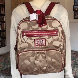 New Coach poppy daisy signature Backpack
